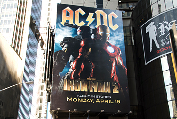 Iron Man & AC/DC take over Times Square!