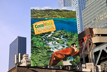 Costa Rica uses OOH and cold weather to promote tourism.
