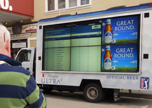 Michelob Ultra: Reaching golf fans with digital out of home