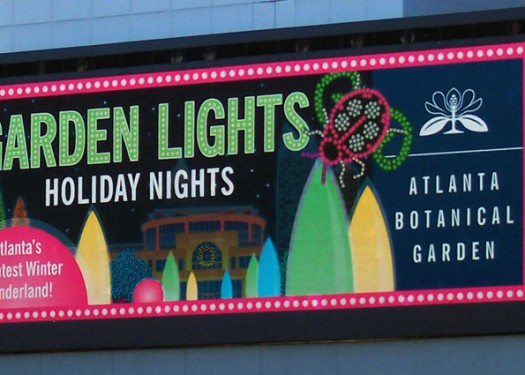Atlanta Botanical Gardens: Seasonal ads with digital OOH