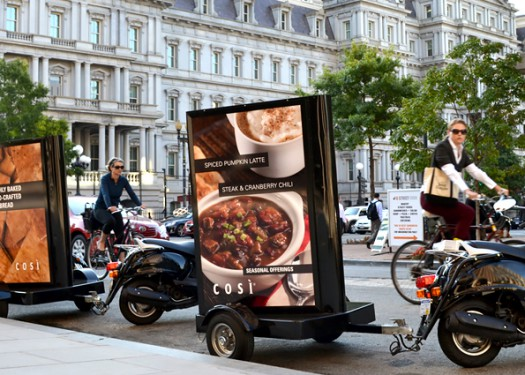 Cosi: Using mobile out of home media to launch their new menu!