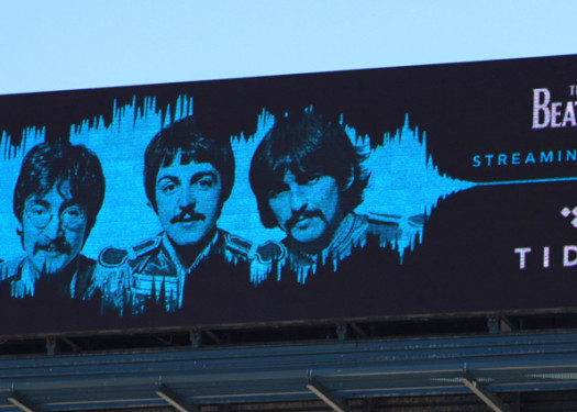 TIDAL and The Beatles Launch on OOH Digital Here, There and Everywhere