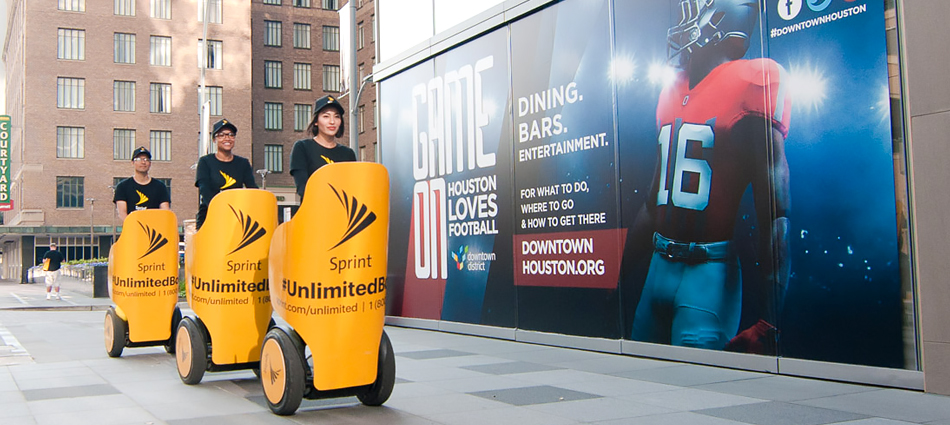 Sprint: Reaching Super Bowl fans in Houston with Experiential Marketing