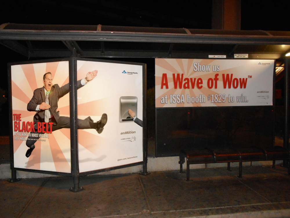 Trade Show Transit Shelter Advertising