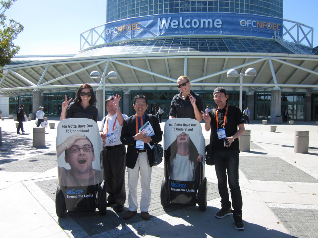 Trade Show Wrapped Segway Advertising and Brand Ambassador