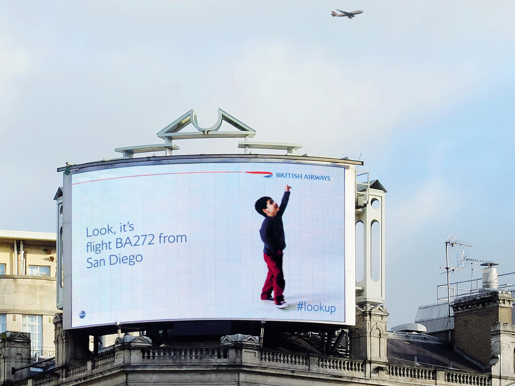 British Airways Digital Billboard