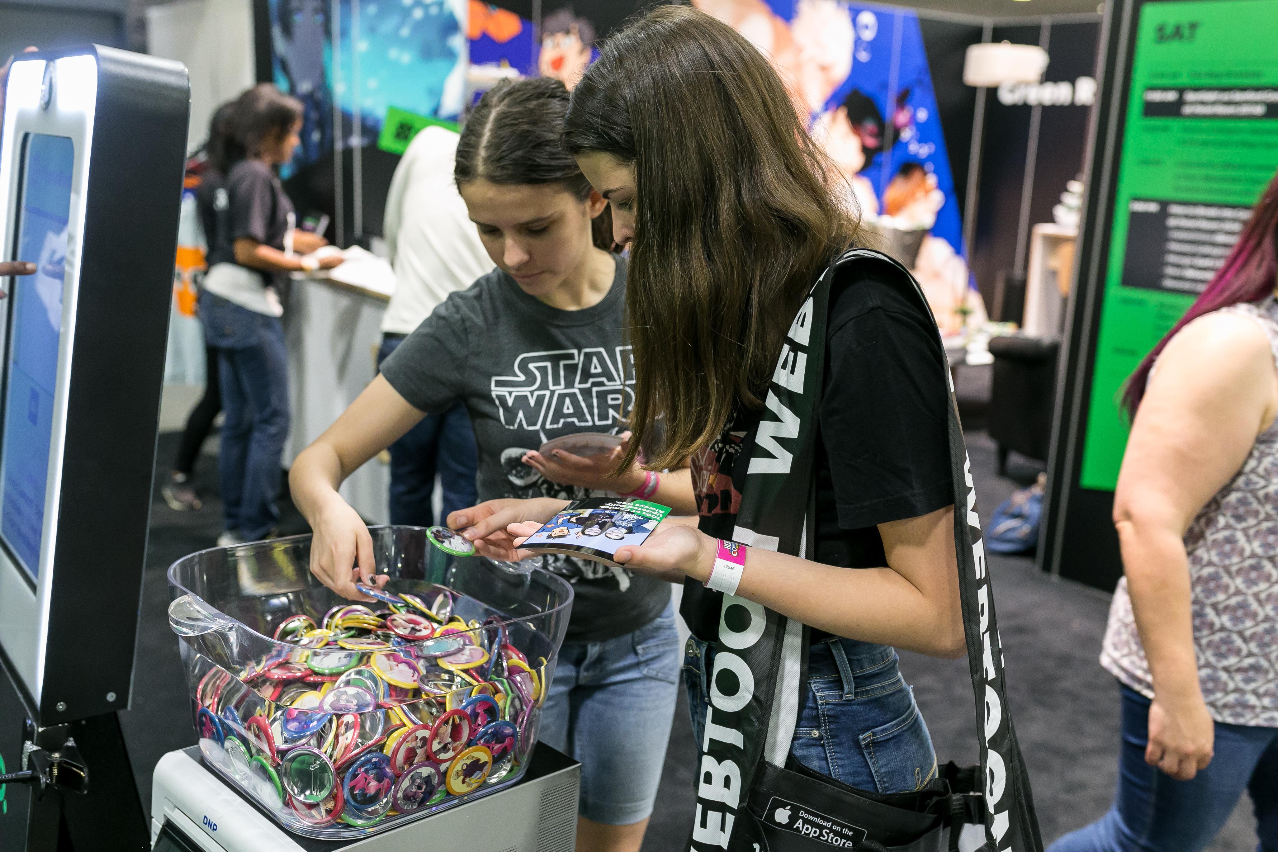 EMC Events - Webtoon - HeroesCon - Pin Giveaways
