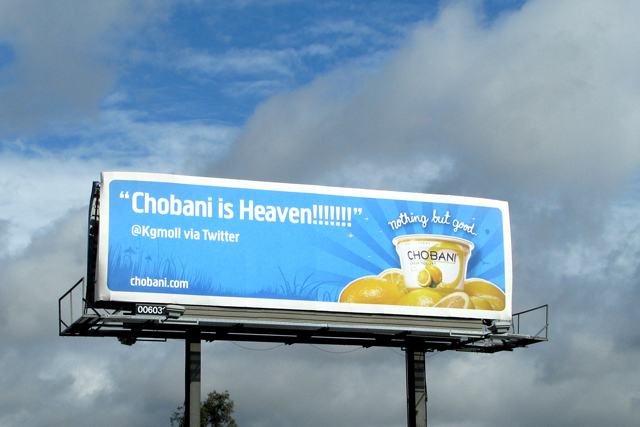 EMC Outdoor Blog - Chobani - Billboard Bulletin