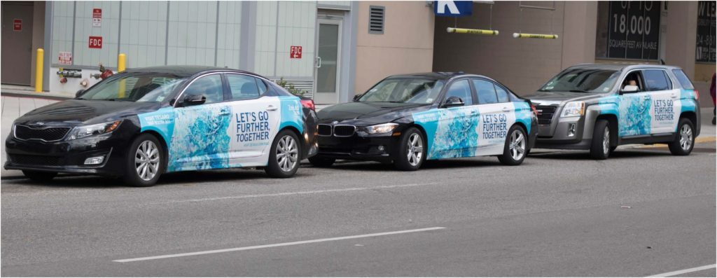 EMC Outdoor Blog - Wrapped Uber Lyft