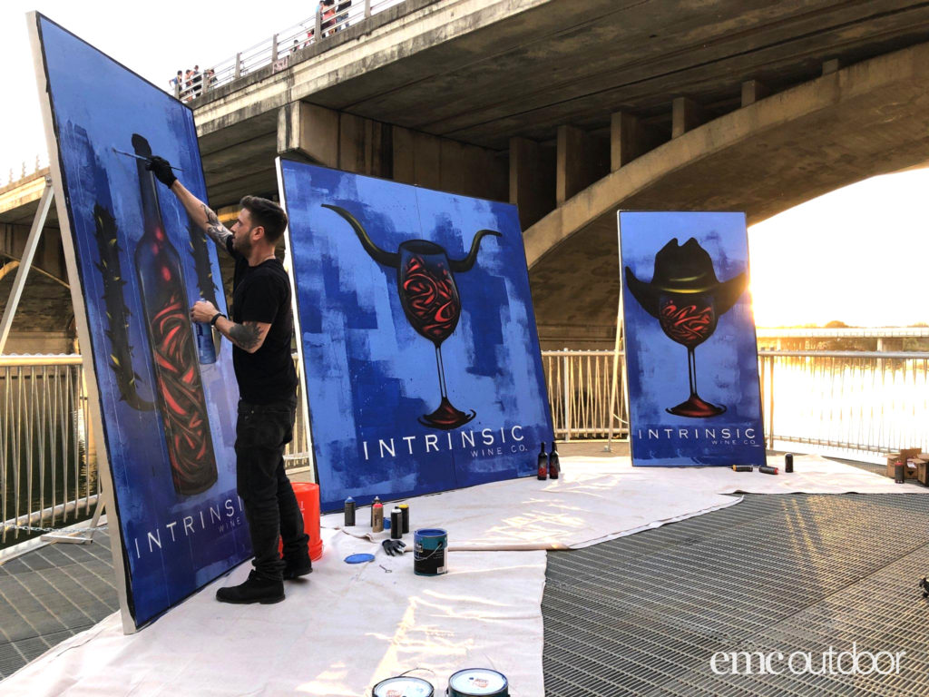 EMC Outdoor Blog - SXSW Intrinsic Wine Painting