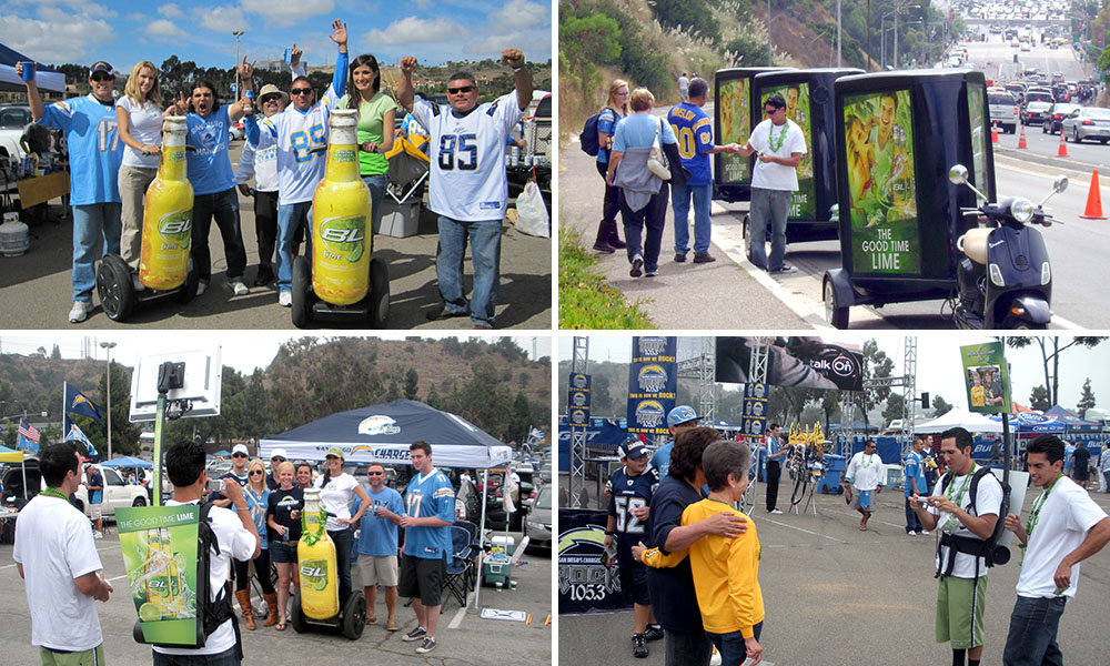 Bud light lime experiential.
