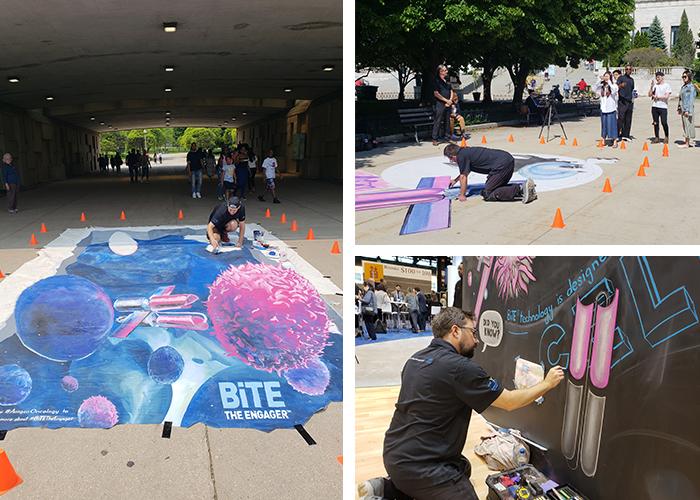 Amgen-BiTE-Chicago-ASCO-Chalk-Art