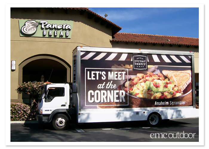 Corner Bakery gets local with mobile billboard advertising