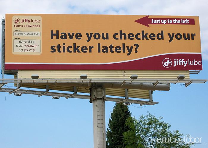 gas station billboard advertising