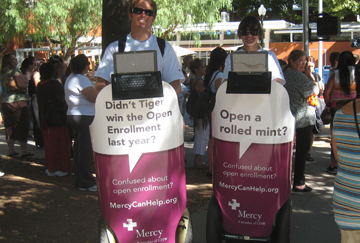 Mercy Healthcare takes its message to the people.