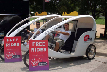 Virgin Mobile gives free rides in Chicago.