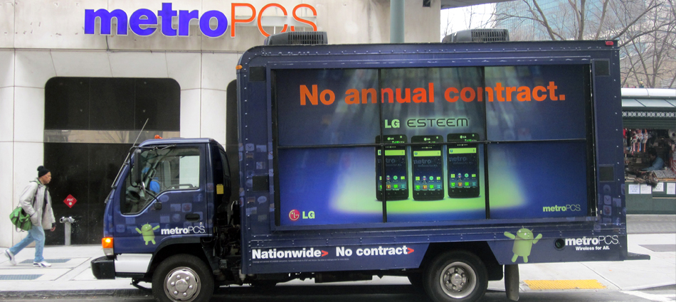 Metro PCS: On the road and engaging consumers with outdoor advertising