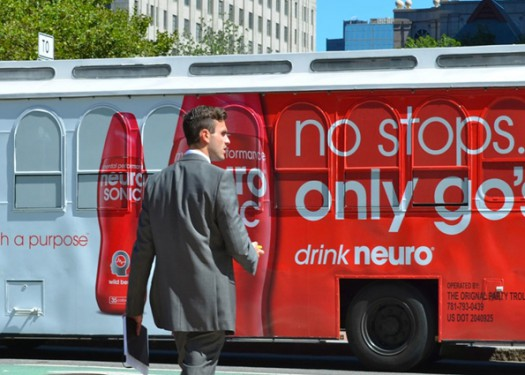 Neuro Energy Drink: Takes over the streets with out of home media