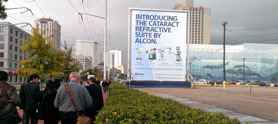 Alcon Labs: Making a big statement with out of home media!