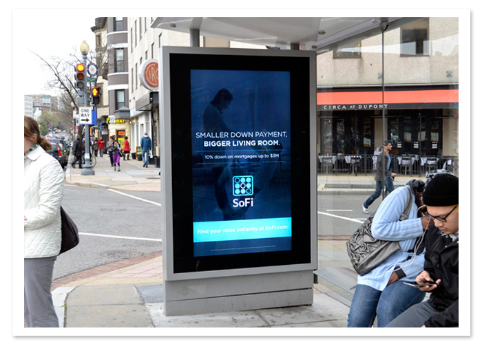 digital transit shelter advertising