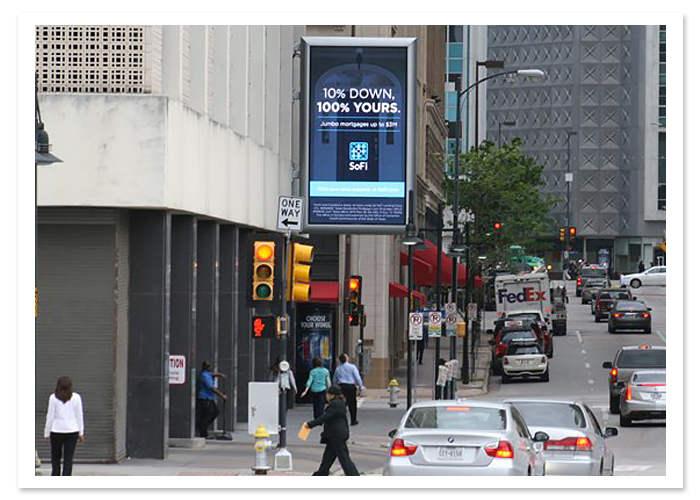 digital outdoor advertising display