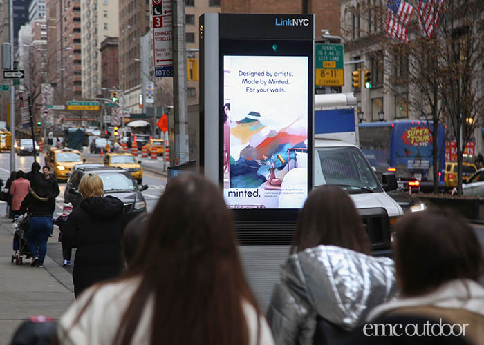 EMC Outdoor - Minted campaign - info panel