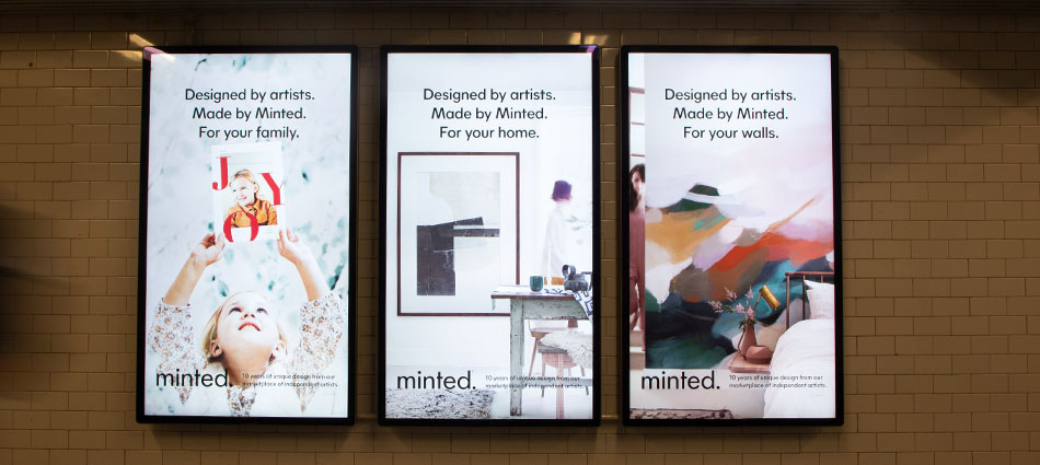EMC Outdoor - Minted campaign - transit station