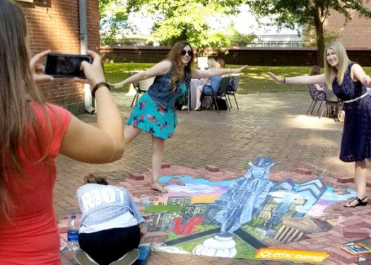 3-D Chalk Art Illustrates Experiential & Social Integration