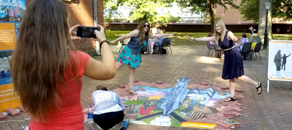 3-D Chalk Art Illustrates Experiential & Social Integration