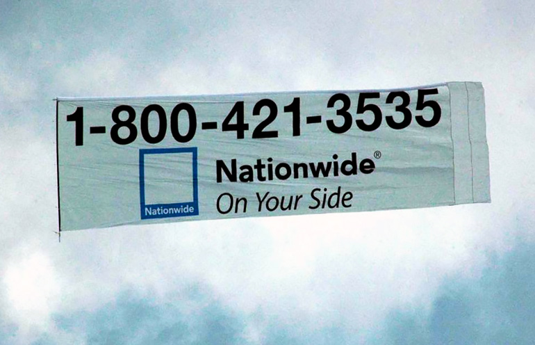 Aerial Ad Banner for Nationwide Insurance