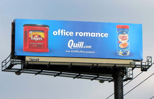 Image of billboard advertising used to reach business professionals