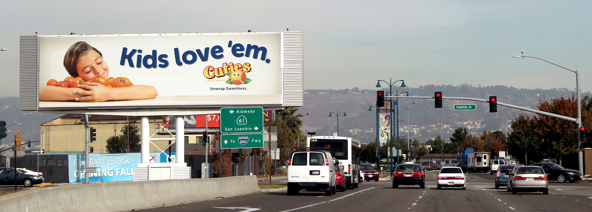 Image of a national billboard advertising campaign for a major retail chain
