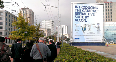 Trade Show Marketing Wallscape for Alcon