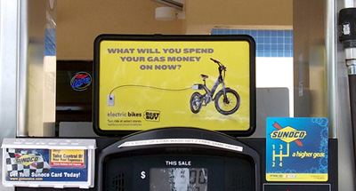 Gas Station advertising for Best Buy