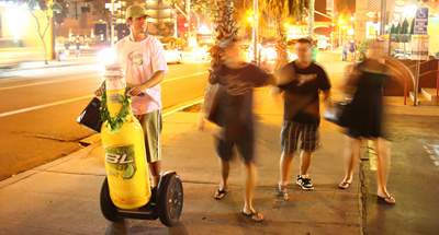 Segway advertising for Bud Light Lime