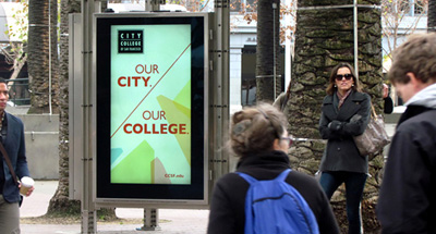 Digital Billboard Advertising for City College of San Francisco