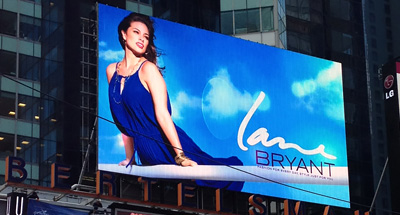 Digital Billboard Advertising for Lane Bryant