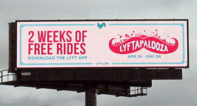 Digital Billboard Advertising for Lyft