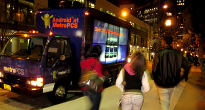 Digital Mobile Billboard Advertising for MetroPCS