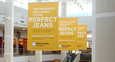 Mall Advertising for Nationwide Insurance