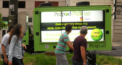 Digital Mobile Billboard Advertising for Peapod