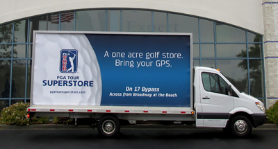 Mobile Billboard Advertising for PGA Tour Superstore