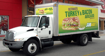 Truckside advertising for Subway Restaurants