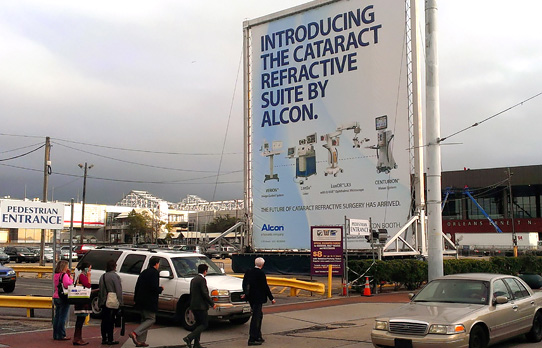 Image of giant mobile display in New Orleans