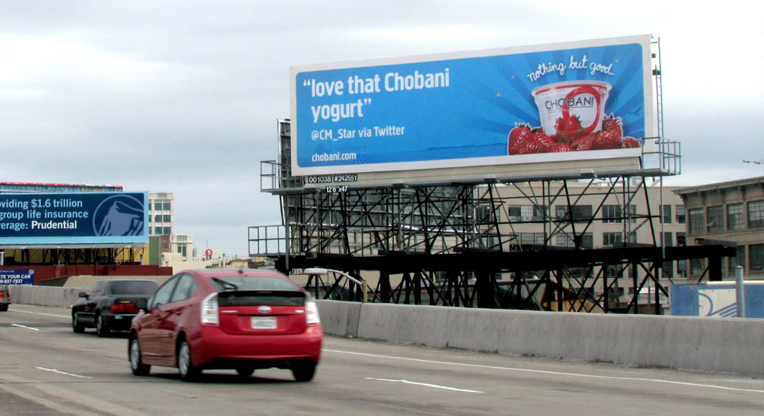 Billboard Advertising for Chobani Yogurt