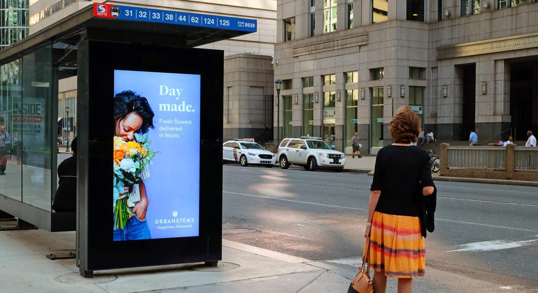 Transit Advertising for Urban Stems