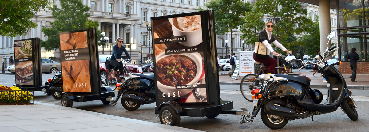 Picture of scooter advertising used for a national restaurant chain promotion