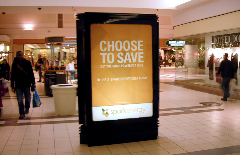 Image of mall advertising in the Philadelphia market