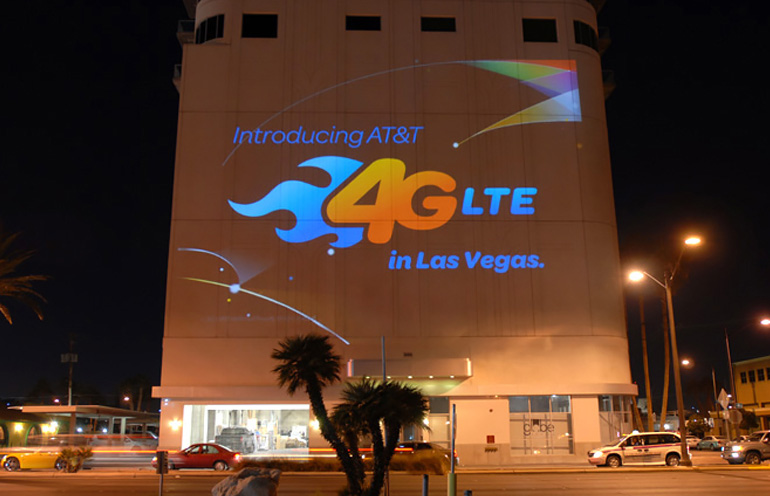 Mobile video projection in Las Vegas
